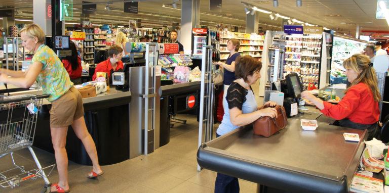 supermarkt-sector_antidiefstal-poortjes_ad-delhaize-humbeek